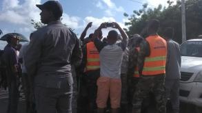 RESIDENTES PROTESTAN EN CONTRA DE APAGONES.