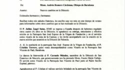 """Circular 06 """"Nuevos Cambios en la Diócesis de Barahona"""""""