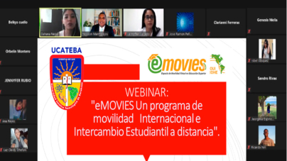 UCATEBA realiza Webinar sobre Programa de Movilidad Internacional e Intercambio Estudiantil a Distancia.