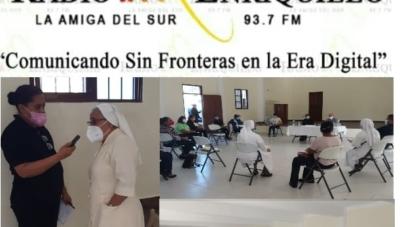 Autoridades de la escuela  parroquial Divino Niño de Pedernales ejecutan, una serie de actividades, para lograr la integración de sus estudiantes a la modalidad de enseñanza virtual.