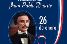 Hoy conmemoramos el 208 Aniversario del natalicio de Juan Pablo Duarte.