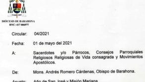 Circular 04 «Año de San José y Misión Mariana»