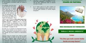 """Septiembre mes Diocesano de Formación """"Biblia y Medio Ambiente"""""""